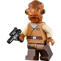 Lego Star Wars The Force Awakens: Admiral Ackbar with Blaster & Mug - Minifigure